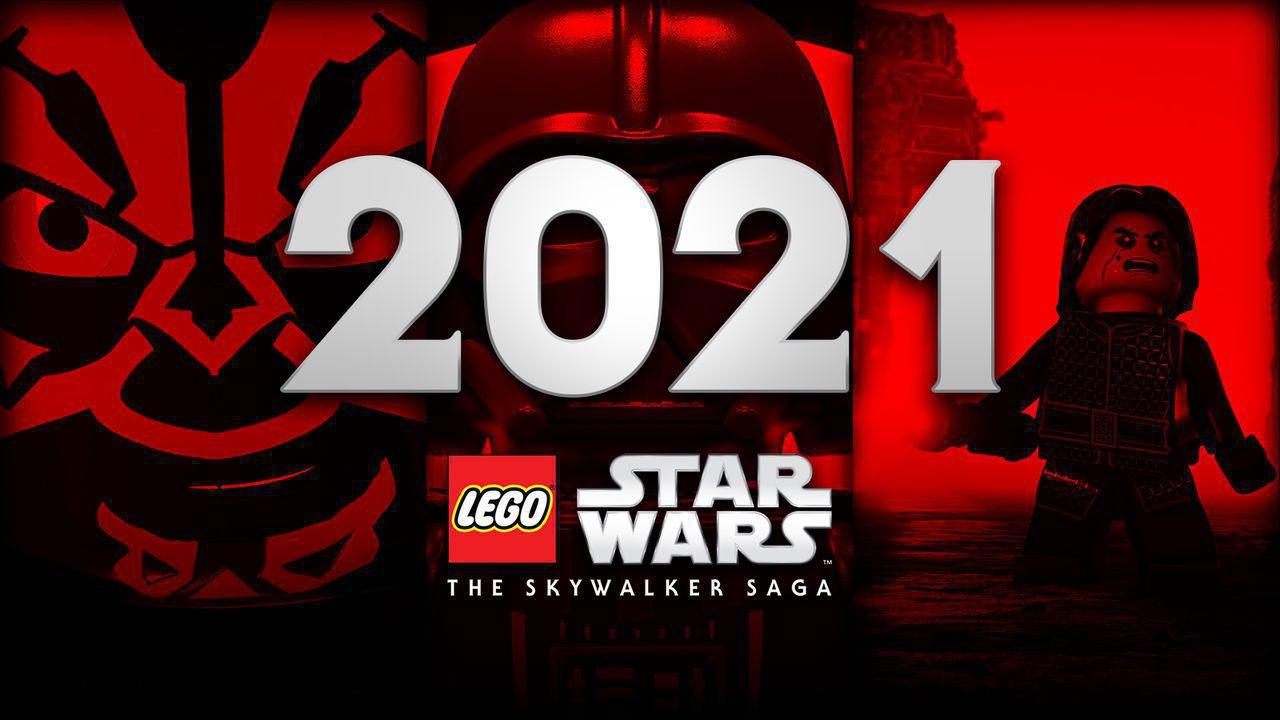 2021, LEGO Star Wars: The Skywalker Saga logo, LEGO Luke Skywalker