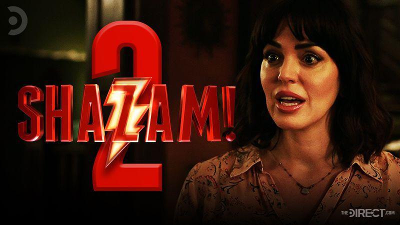 Shazam 2 logo and Mama Rosa in Shazam!