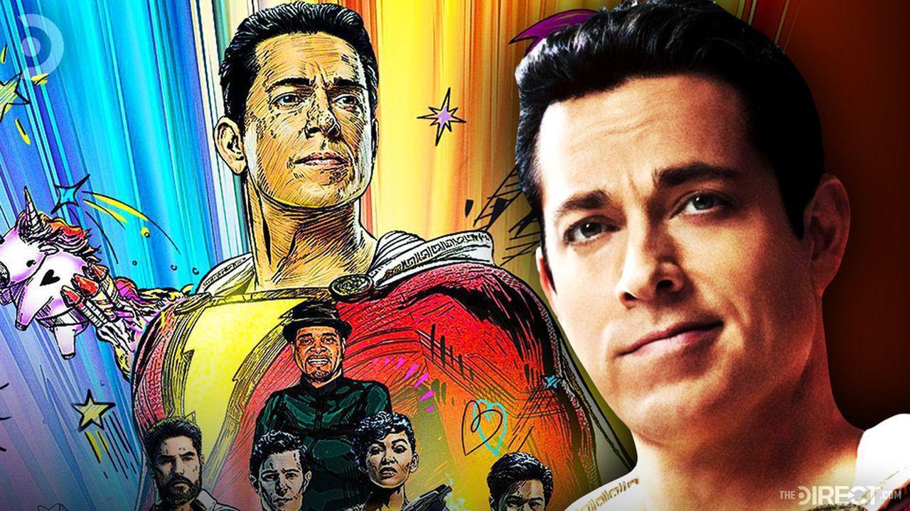 Shazam! Fury of the Gods poster, Zachary Levi