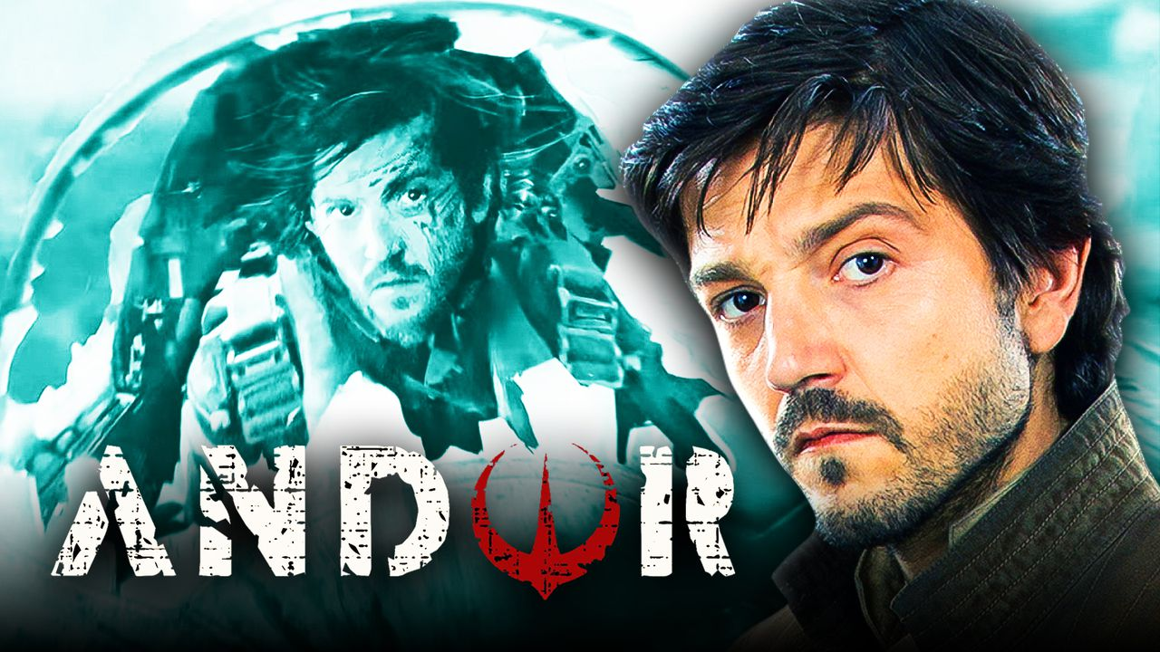Diego Luna as Cassian Andor, Andor logo