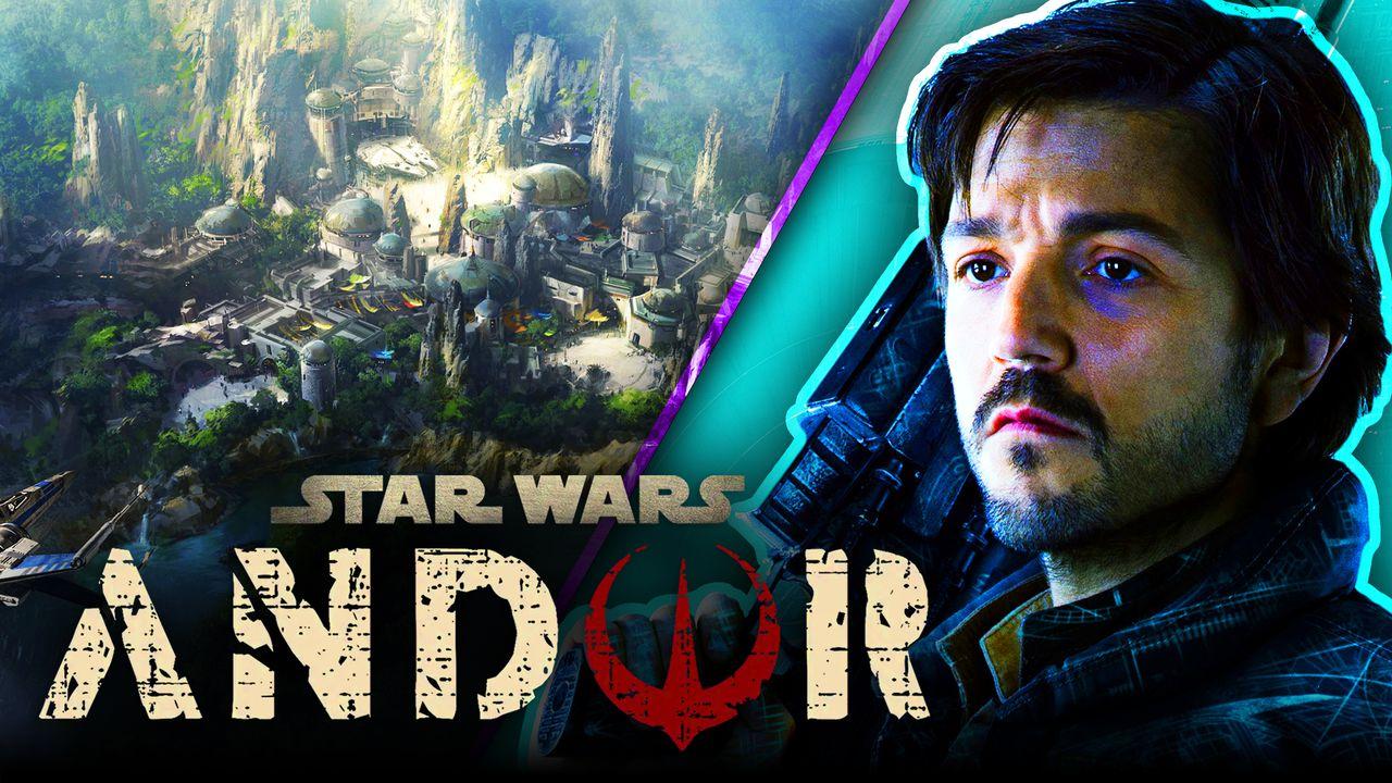 Diego Luna as Cassian Andor, Andor logo