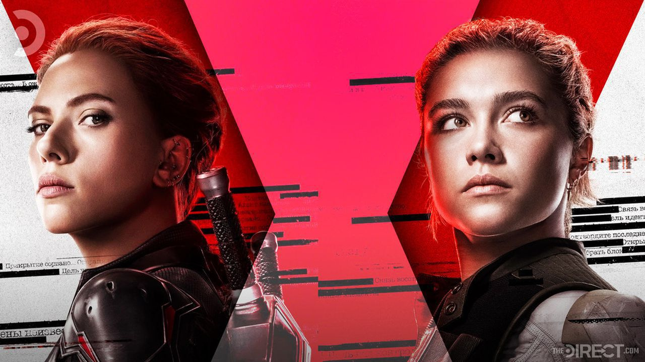 Scarlett Johansson as Black Widow and Florence Pugh as Yelena Belova