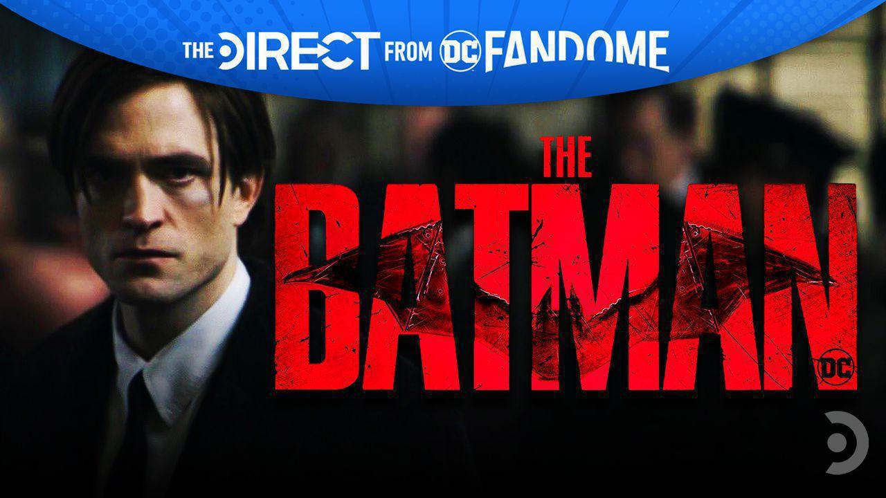 Robert Pattinson Bruce Wayne, The Batman logo.