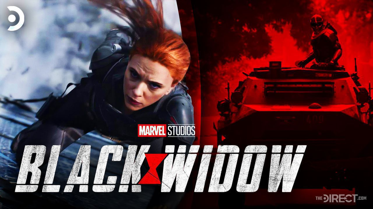 Black Widow logo, Scarlett Johansson as Natasha Romanoff