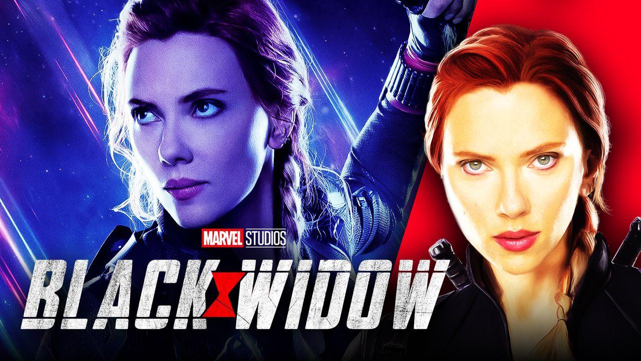 Scarlett Johansson, Black Widow logo, Avengers: Endgame