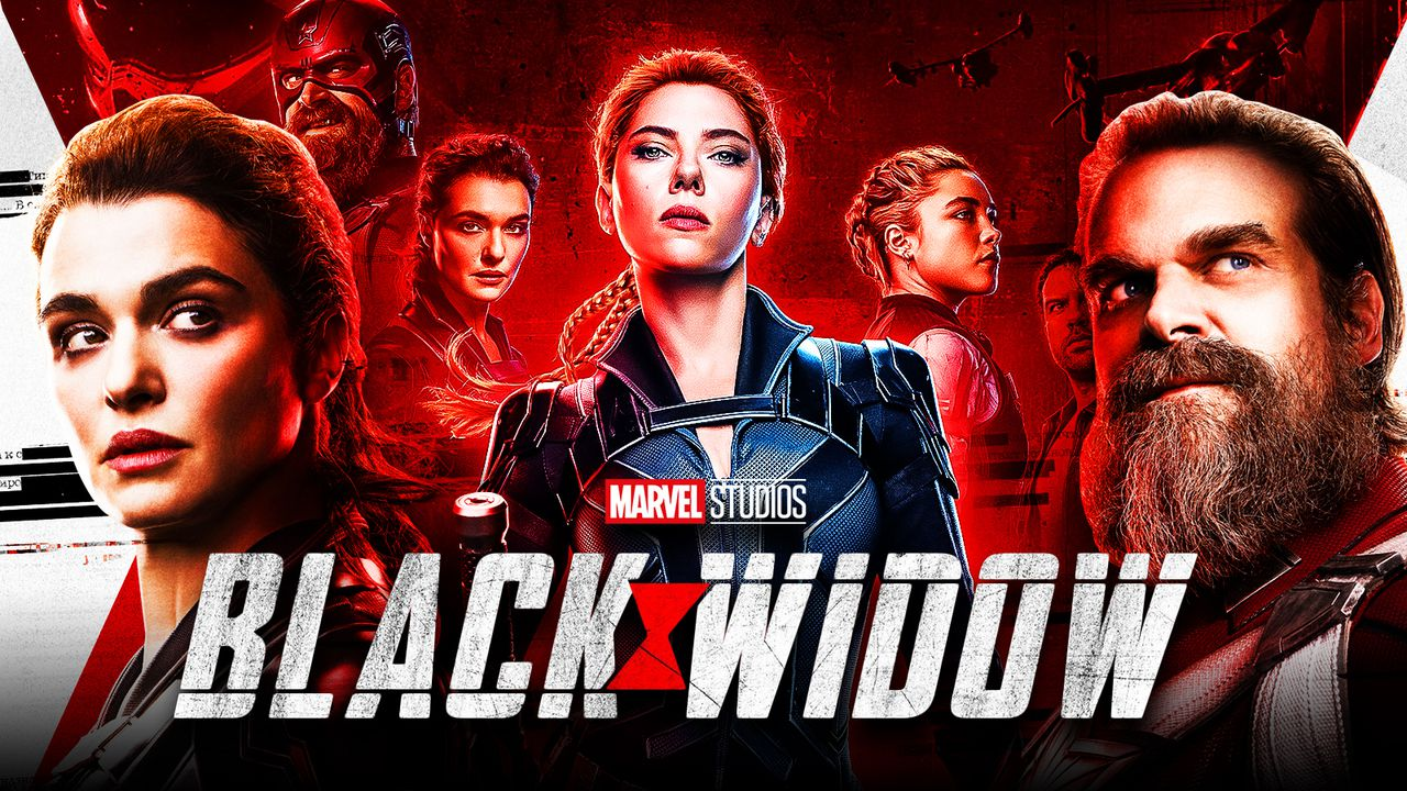 Black Widow logo, Black Widow cast, Scarlett Johannson