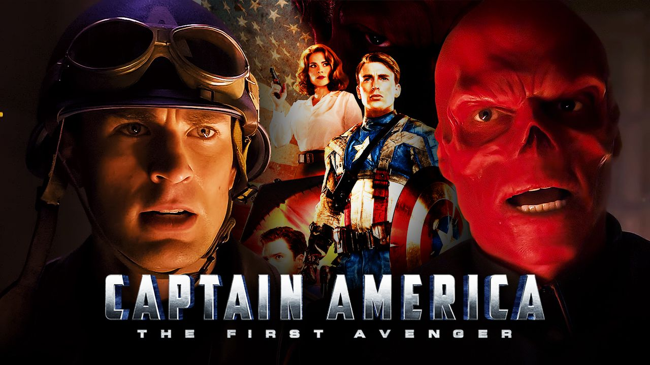 Captain America and Red Skull in The First Avenger