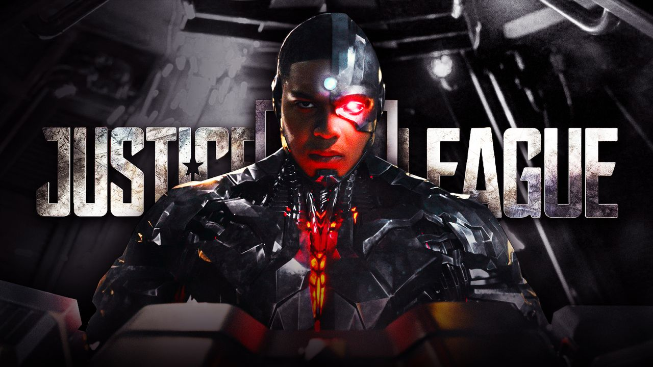 Ray Fisher as Cyborg, Justice League logo
