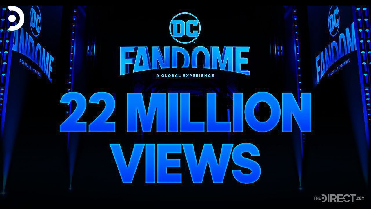 DC FanDome logo with 22 million views under it