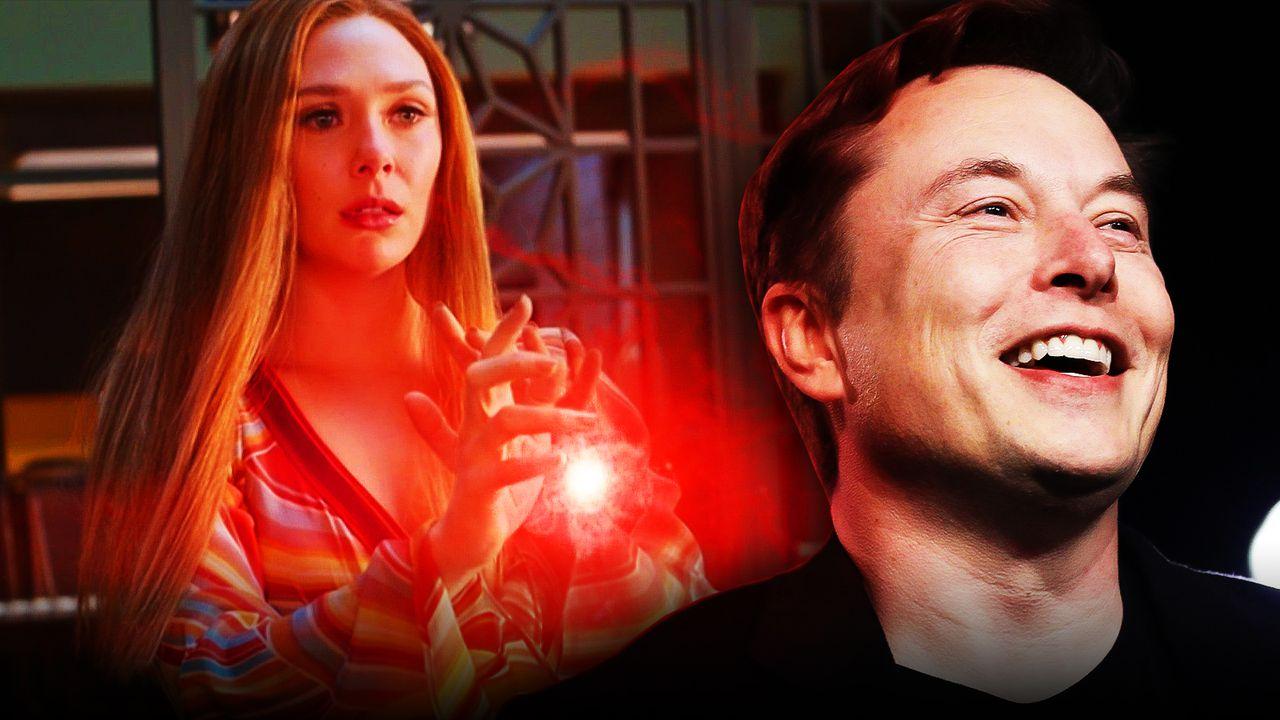 Elizabeth Olsen as Wanda Maximoff, Elon Musk