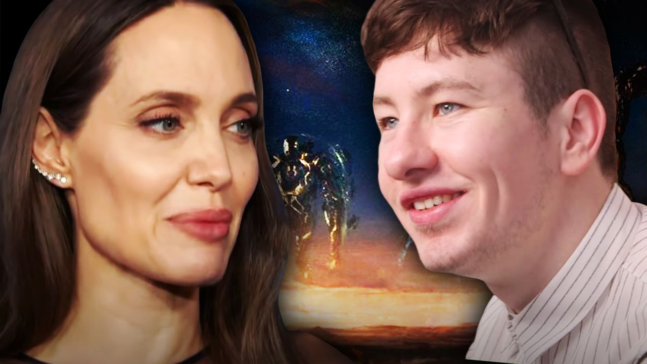 Barry Keoghan, Angelina Jolie, The Eternals logo