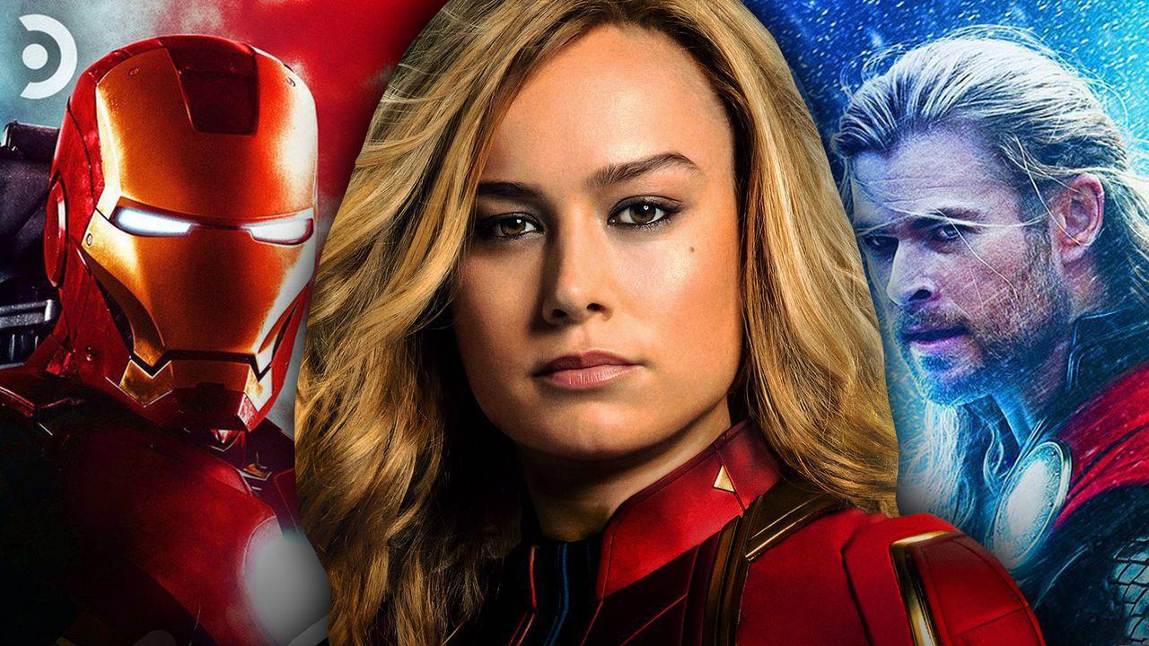 Iron Man, Captain Marvel, Thor