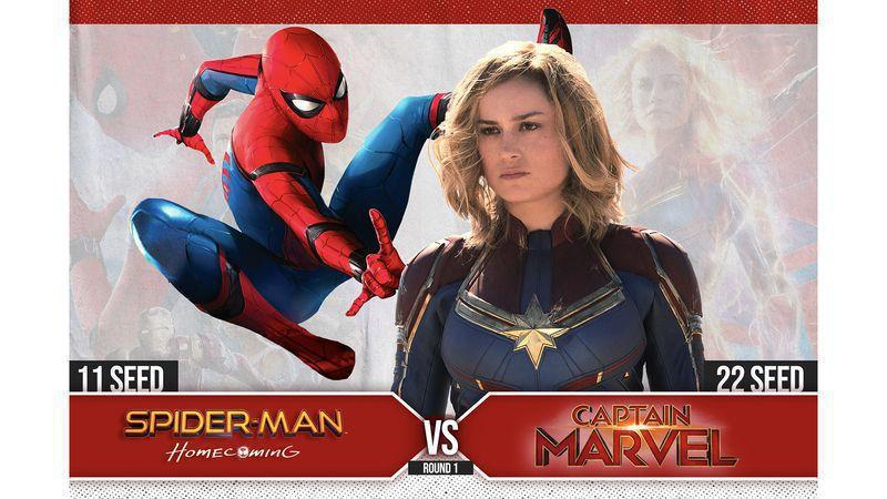 #11 Spider-Man: Homecoming vs. #22 Captain Marvel