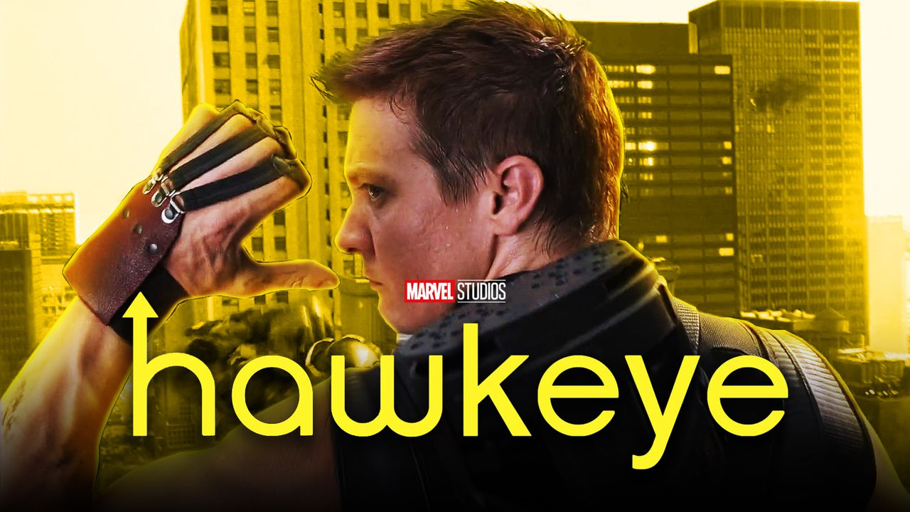 Hawkeye from The Avengers reaching for arrow