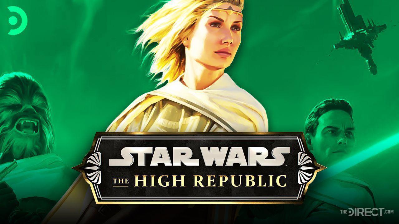 Star Wars: High Republic Logo, A Jedi wielding a lightsaber