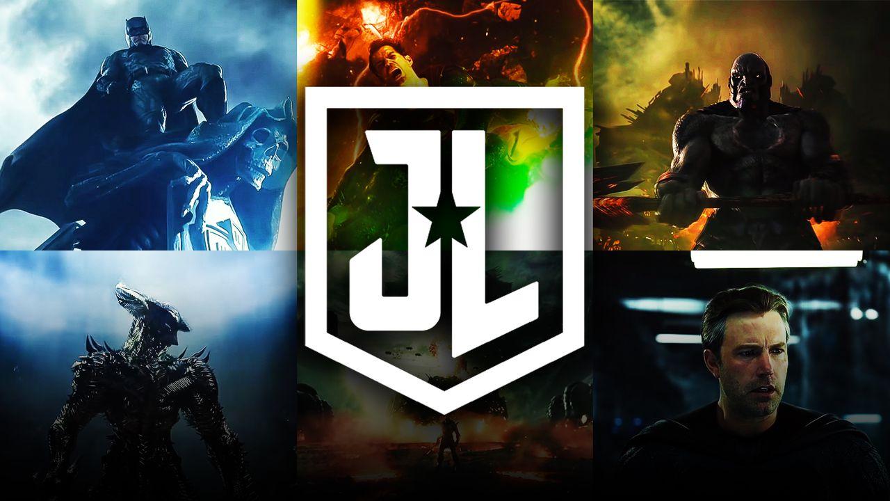 Batman, Superman, Darkseid, Justice League logo