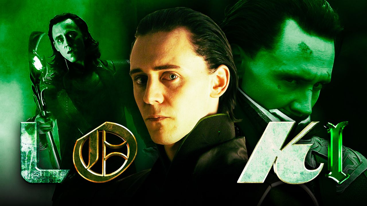 Three variations of Loki with logo in foreground