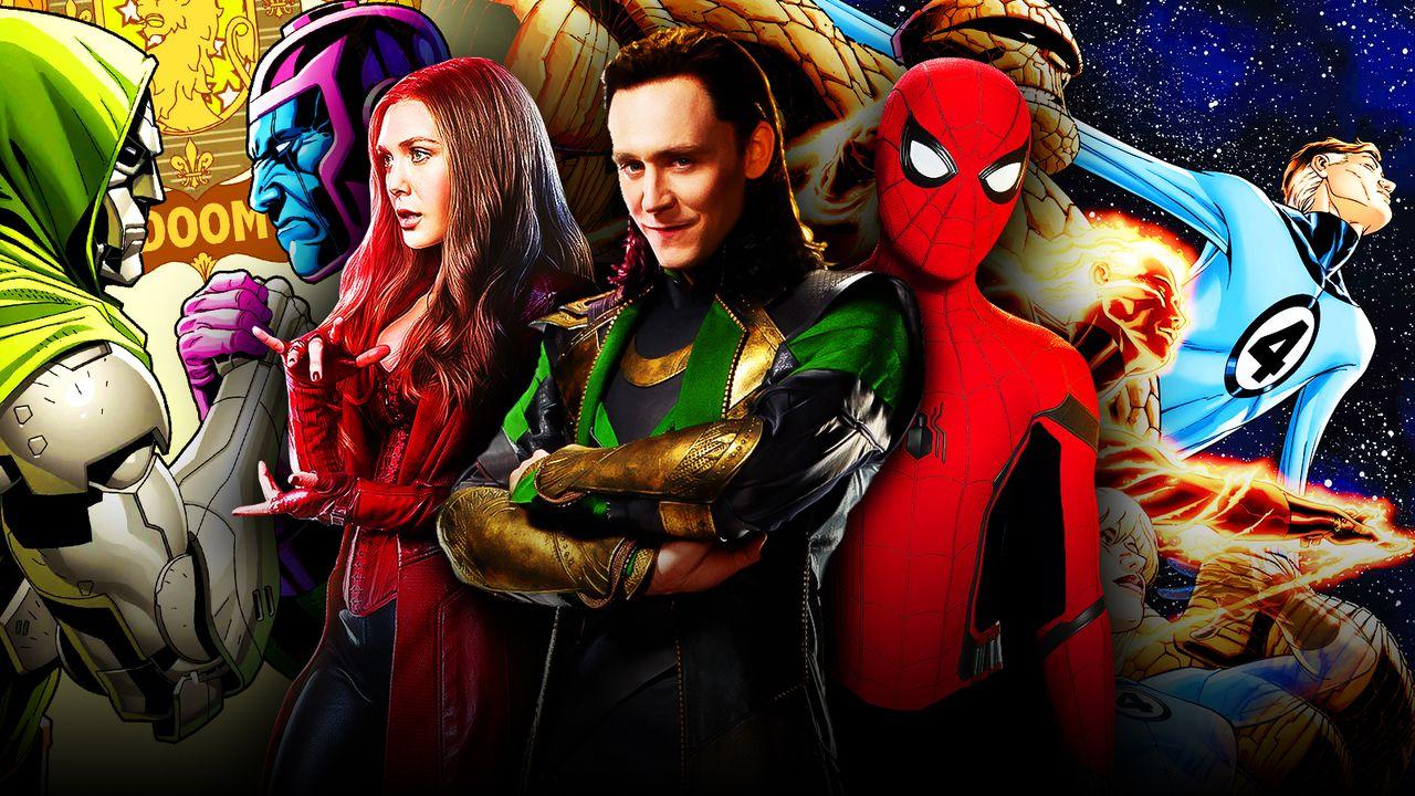 Scarlet Witch, Loki, Spider-Man, X-Men