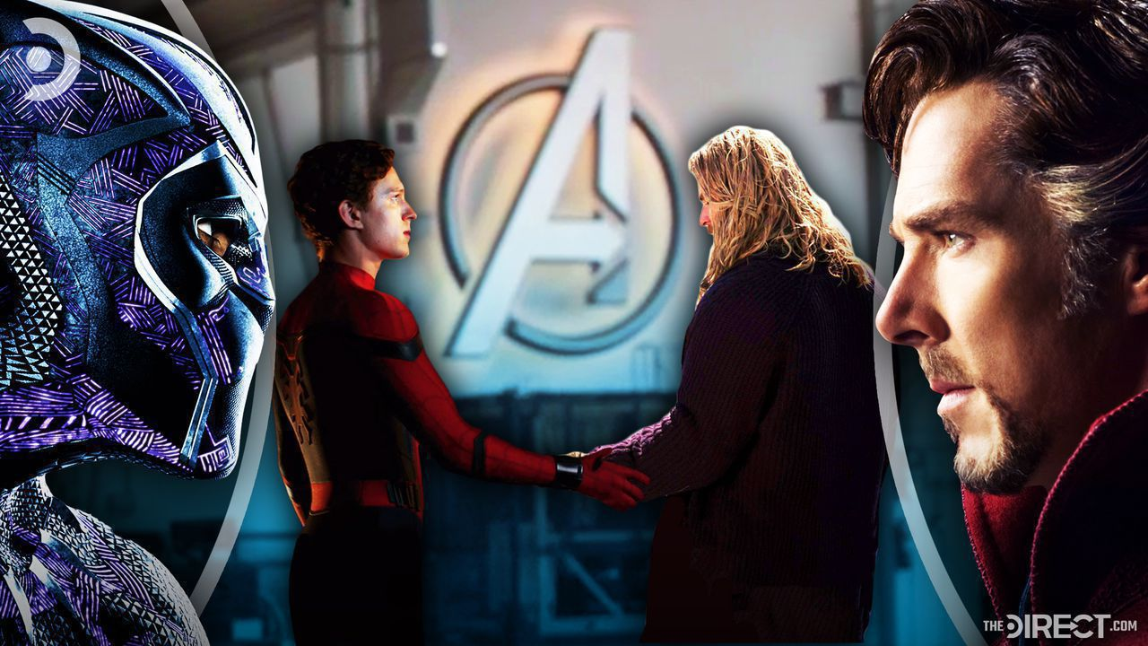 Black Panther, Spider-Man and Thor Shaking Hands, Doctor Strange