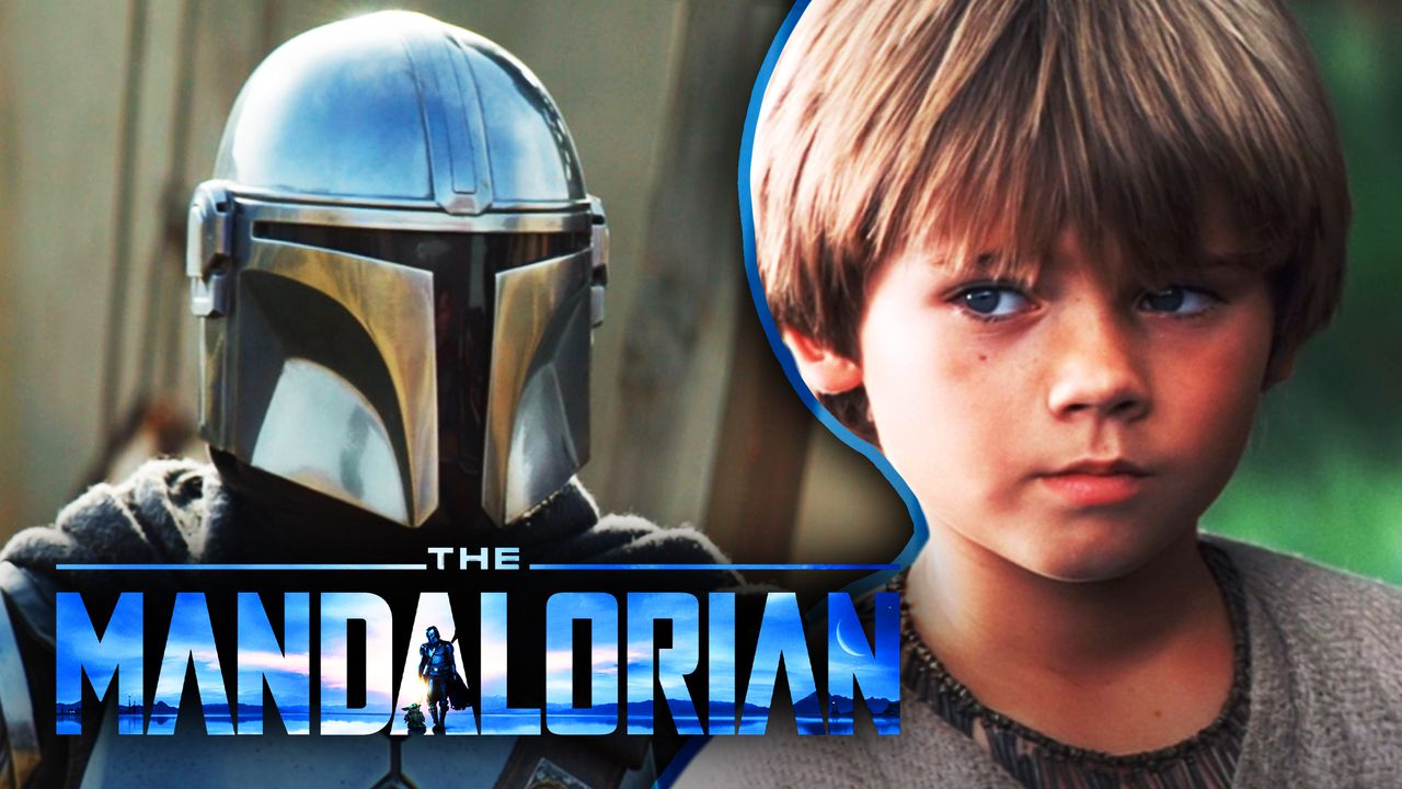The Mandalorian logo, Mando, Young Anakin Skywalker