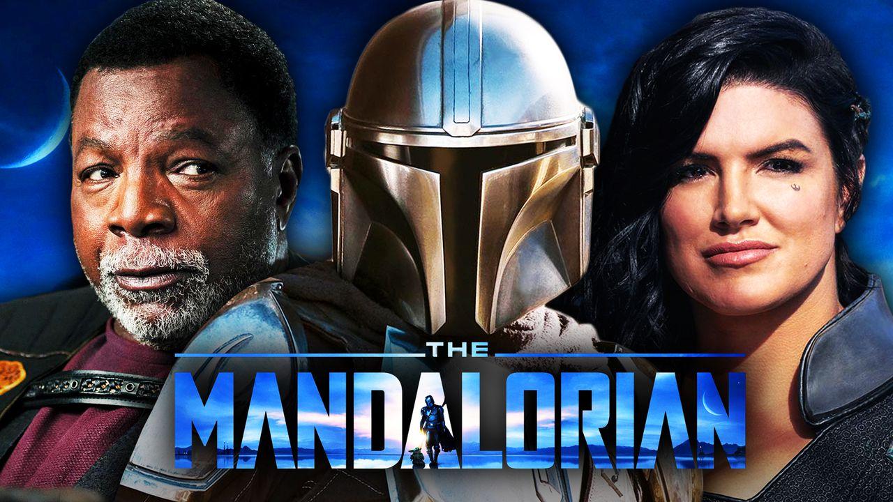 The Mandalorian Season 2 New Looks At Gina Carano S Cara Dune Carl Weathers Greef Karga Revealed