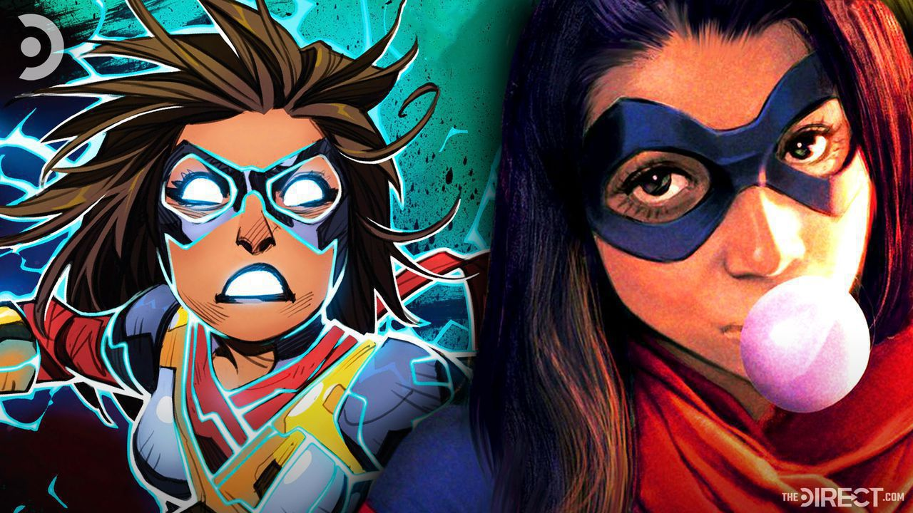 Two pictures of Ms. Marvel from comics