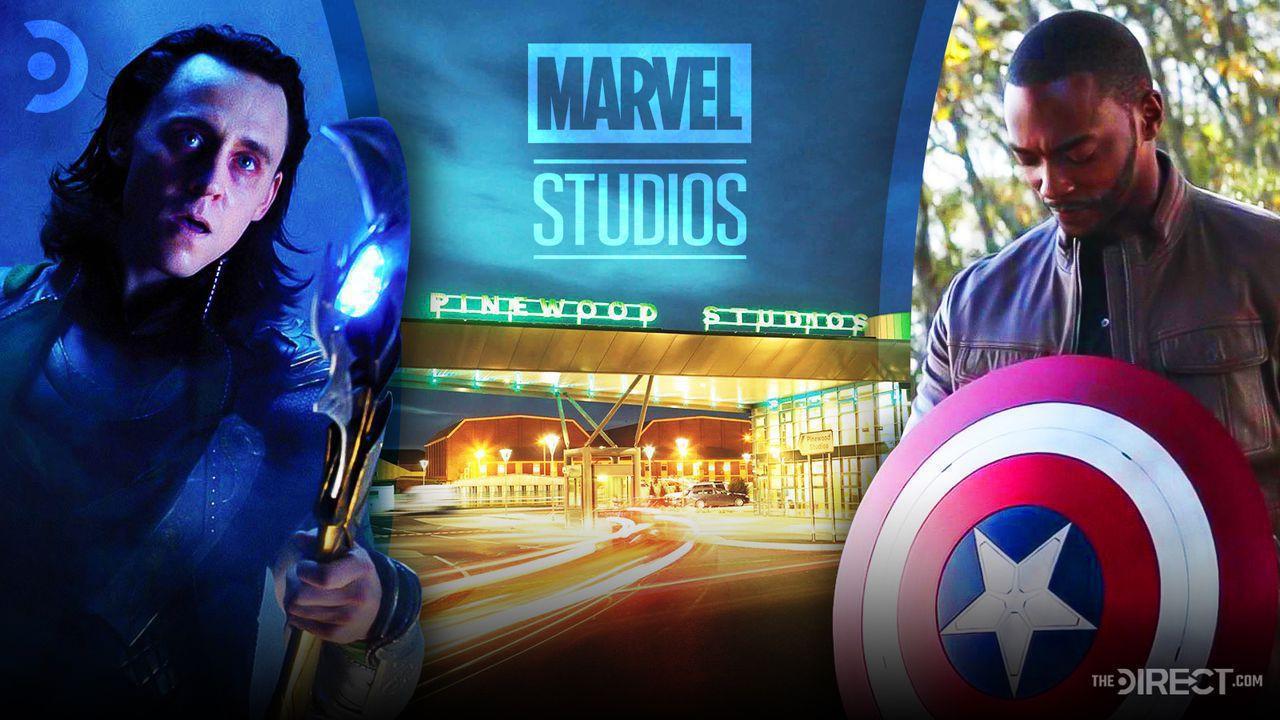 Tom Hiddleston as Loki, Anthony Mackie as Falcon, Marvel Studios Logo