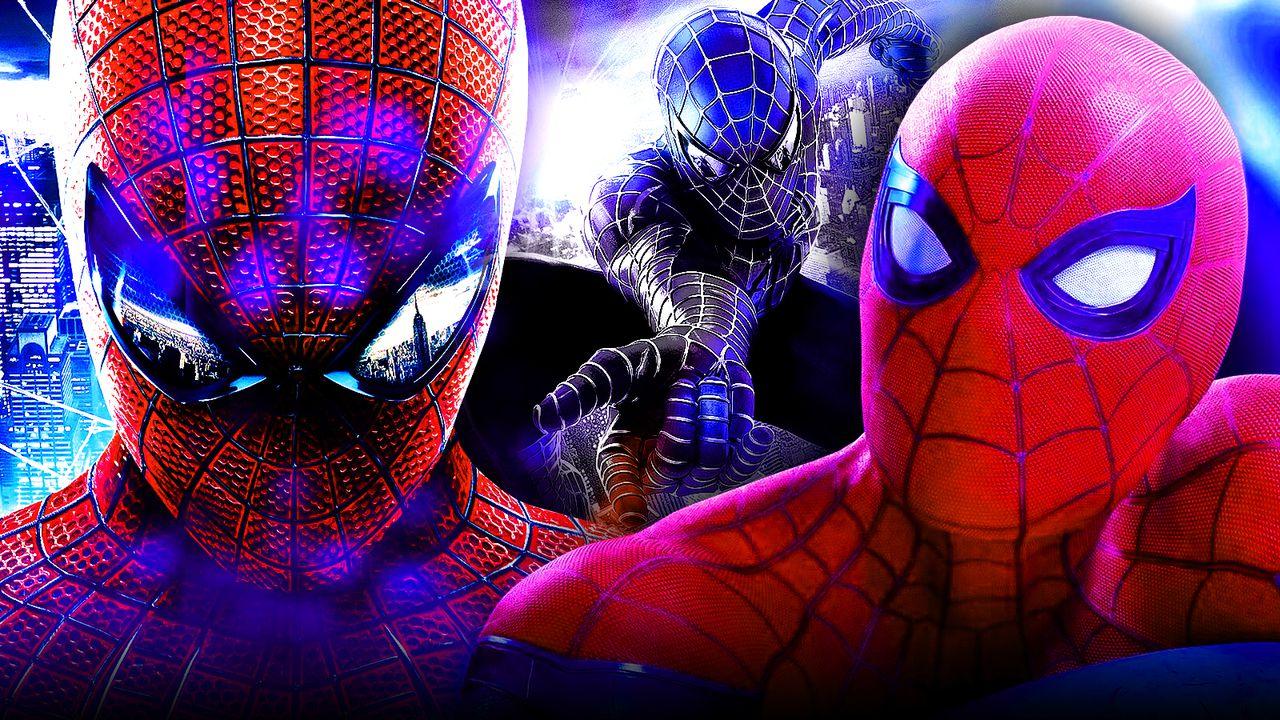 Tom Holland, Andrew Garfield, Tobey Maguire Spider-Men
