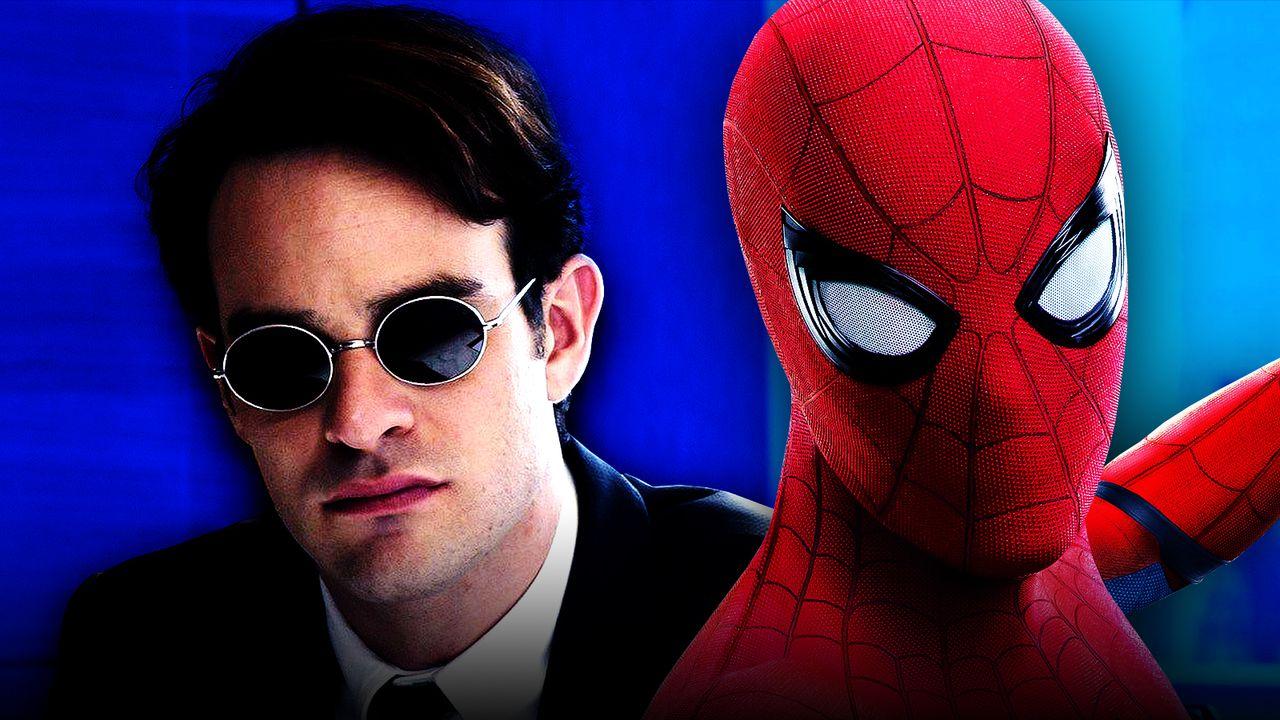 Matthew Murdock on left and Spider-Man on right