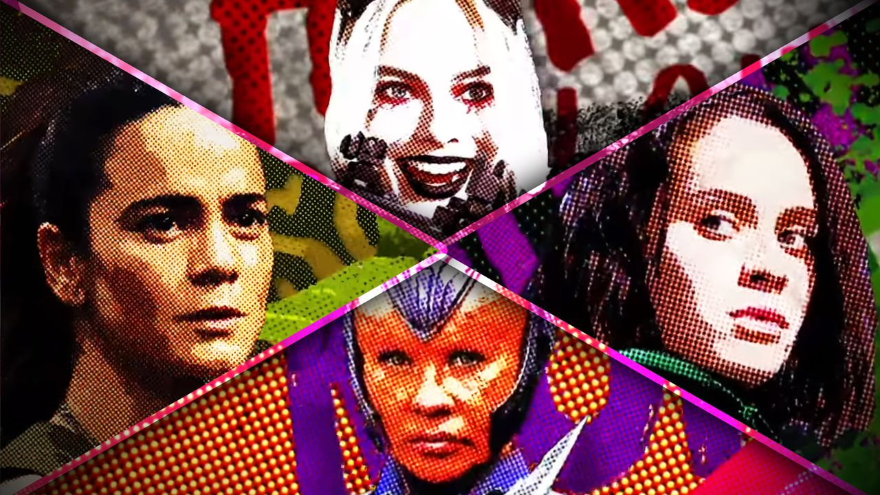 Margot Robbie, Daniela Melchior, Mayling Ng, Alice Braga from The Suicide Squad