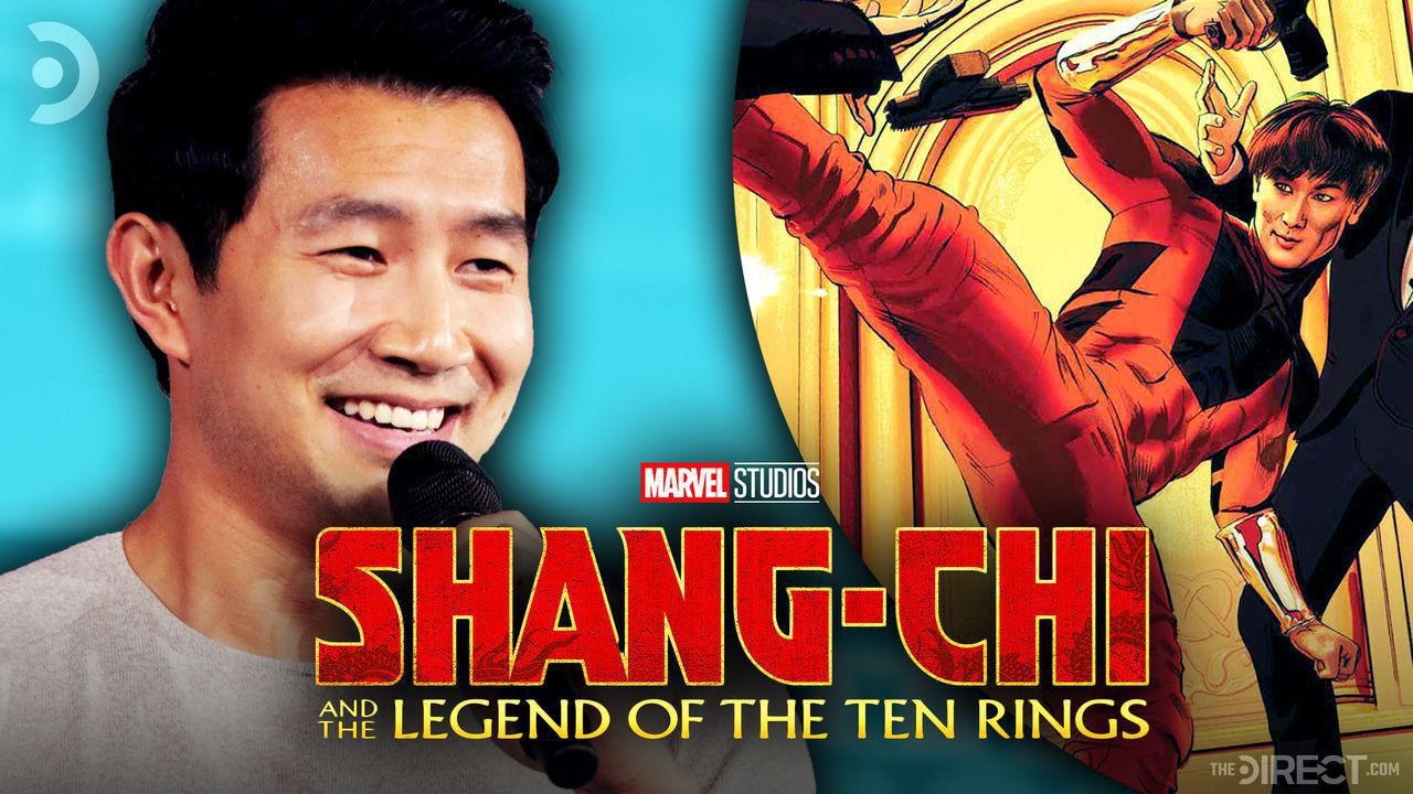 Simu Liu on the left, Shang-Chi on the right