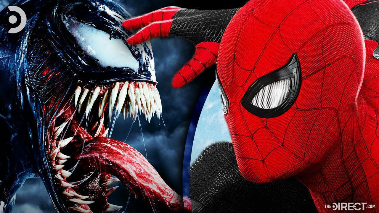 Venom on left, Spider-Man on right