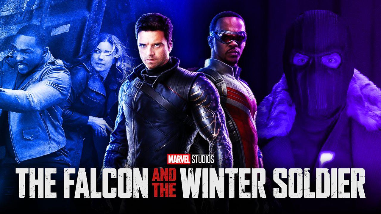 Falcon, Sharon Carter, Bucky, Sam Wilson, FATWS logo, Zemo
