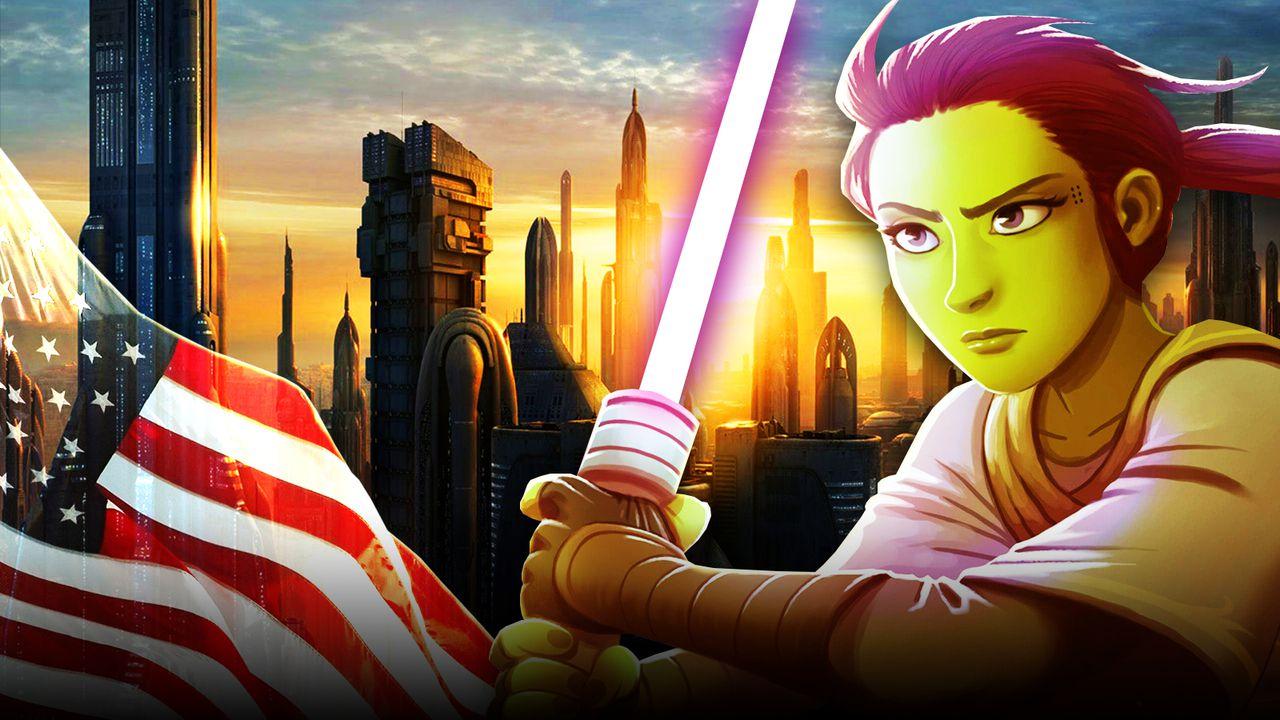 Coruscant, American Flag, The High Republic Jedi