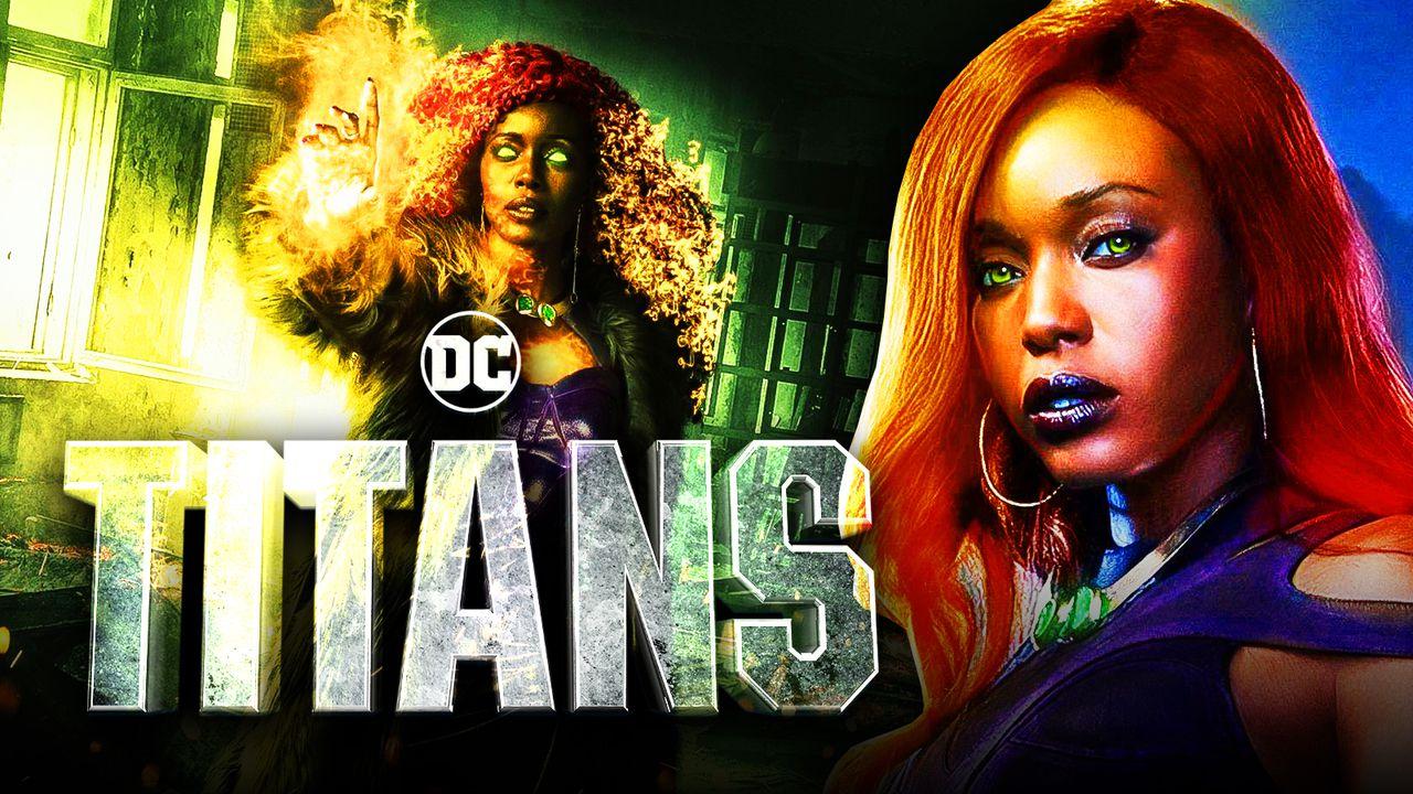 Anna Diop as Starfire, Titans logo