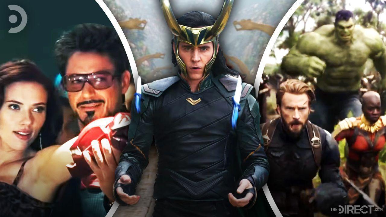 Tony and Natasha at Party with Gauntlet, Loki with Knives, Wakanda Fight Scene