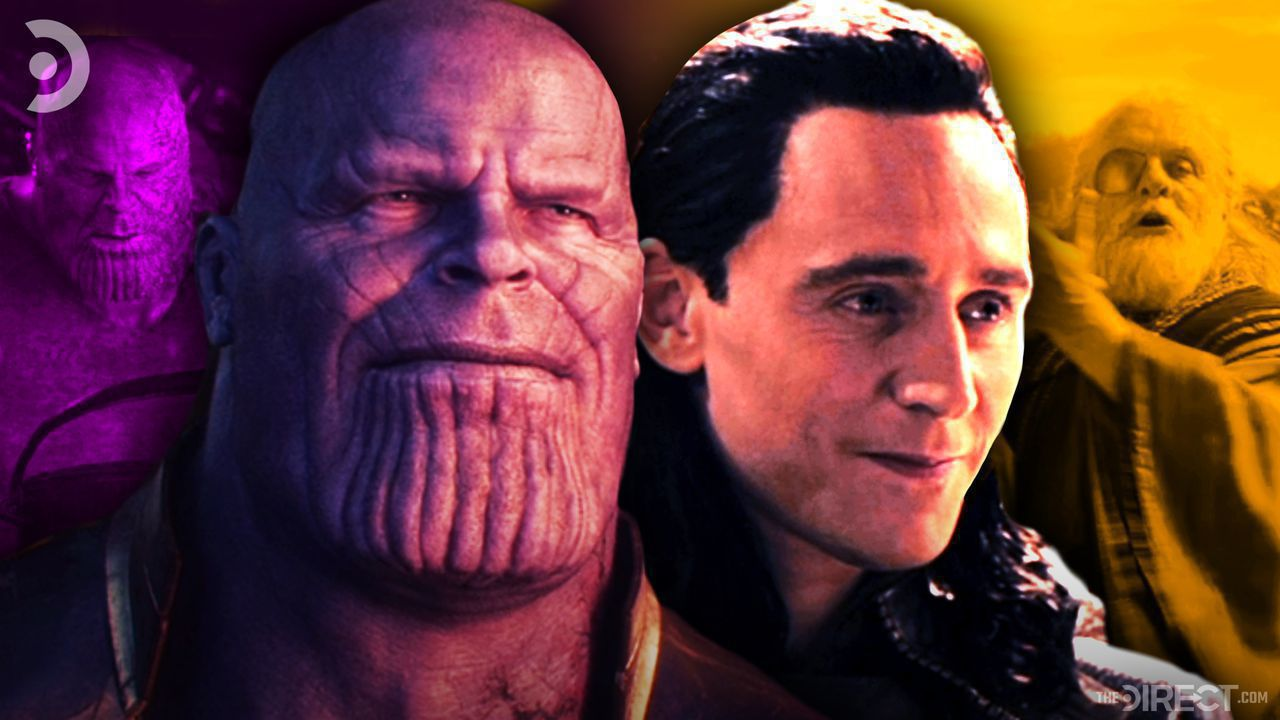 Thanos from Infinity War and Loki from Thor: The Dark World