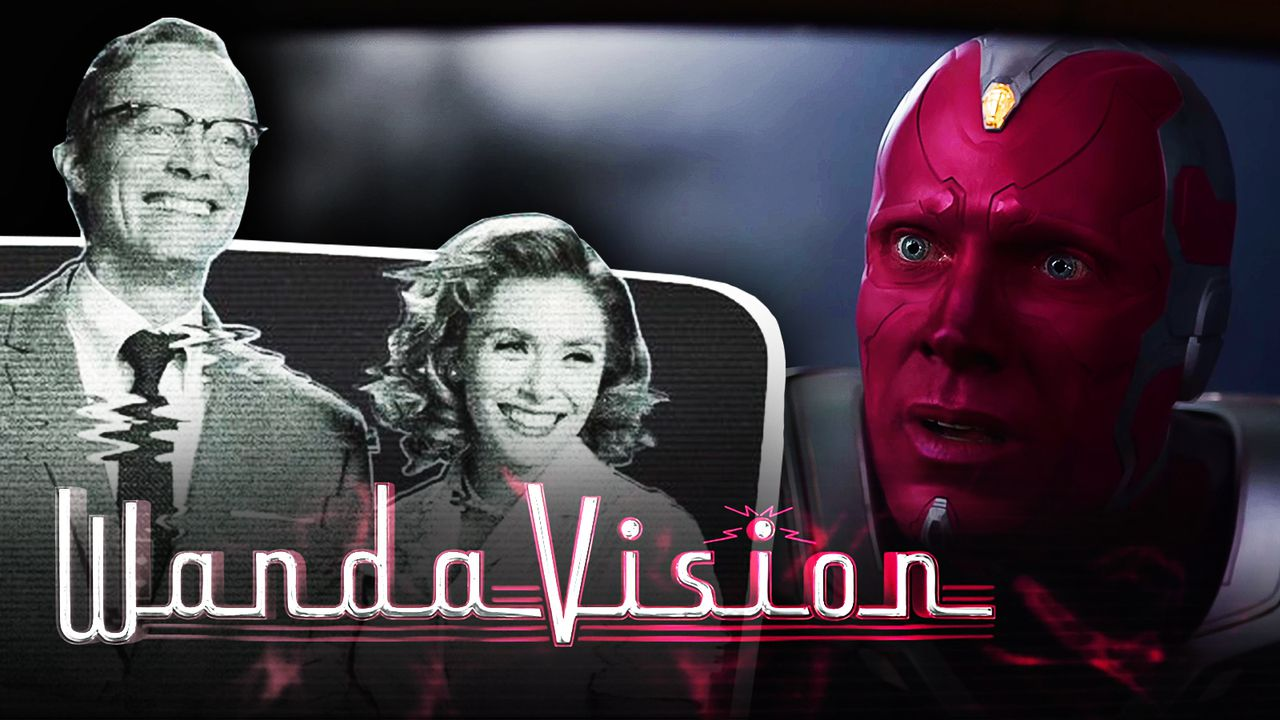 Wanda and Human Vision on left with Colored Vision on right