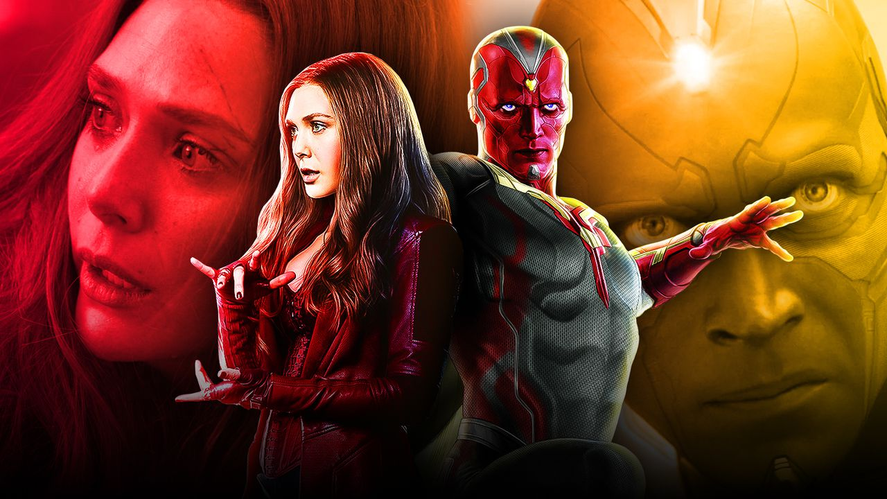 Scarlet Witch, Vision, Wanda Maximoff and Vision together