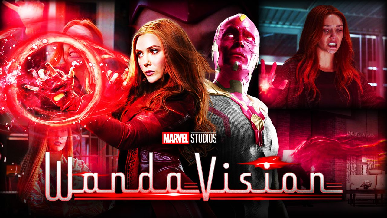Scarlett Witch Using Magic with Vision