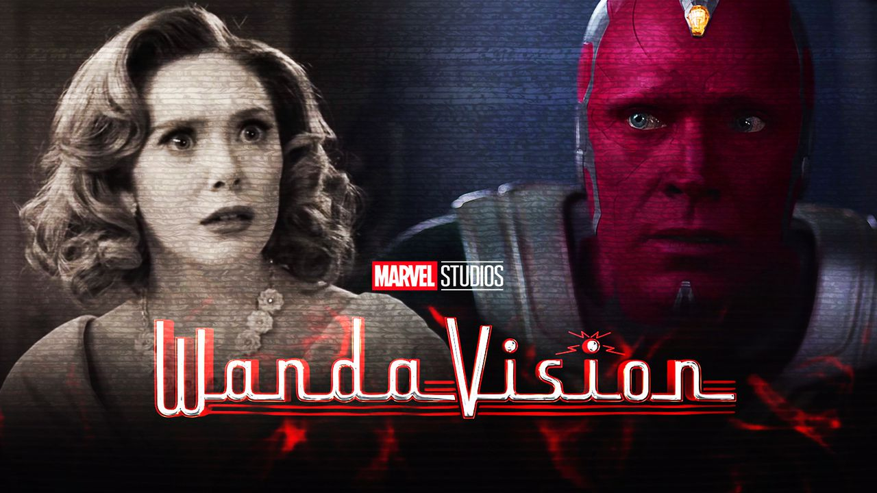 WandaVision logo, Wanda, Vision