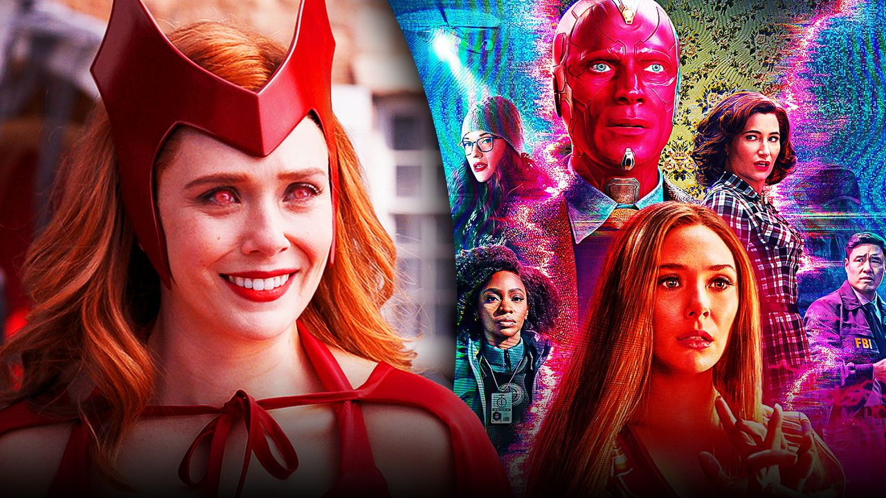 Wanda Maximoff with red eyes from Episode 6, WandaVision poster