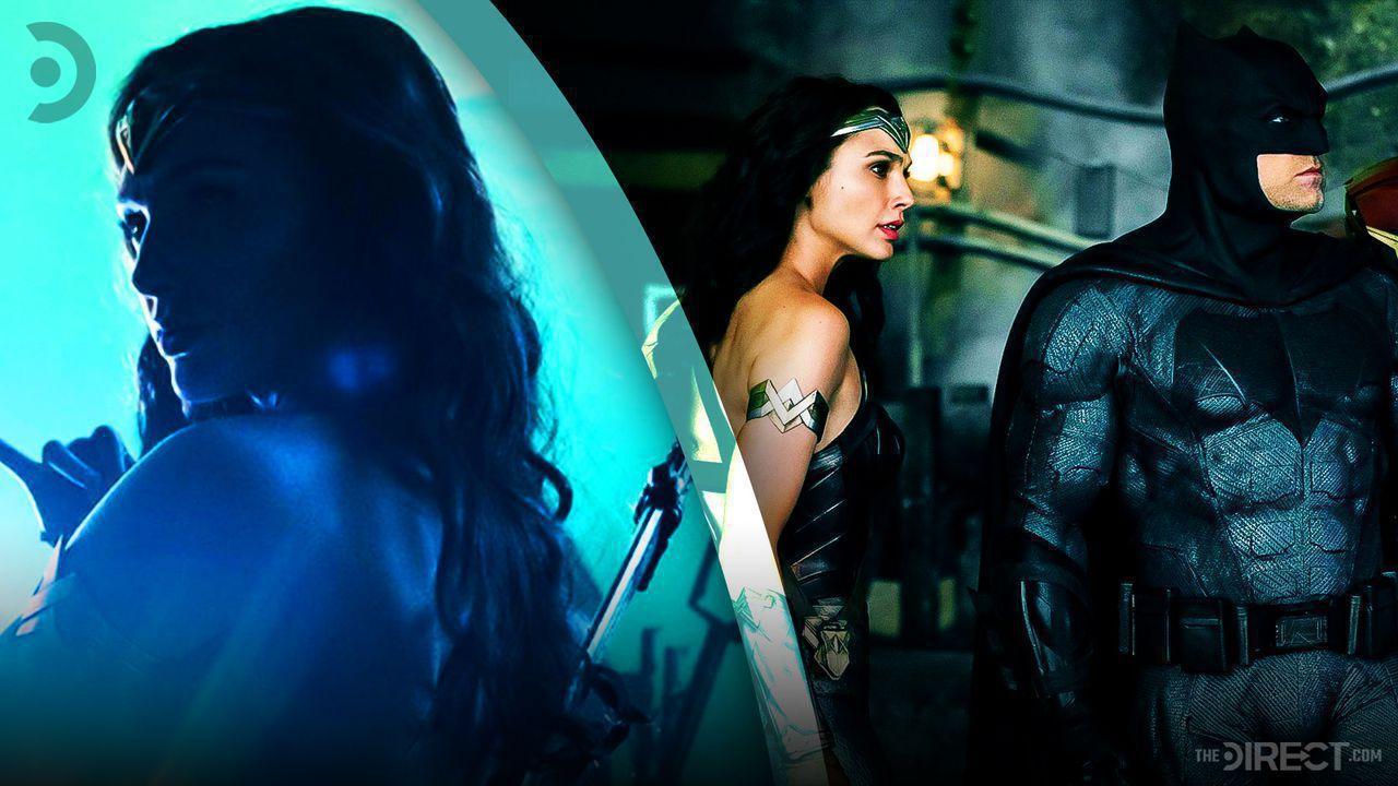 Gal Gadot as Wonder Woman, Wonder Woman and Batman from Justice League