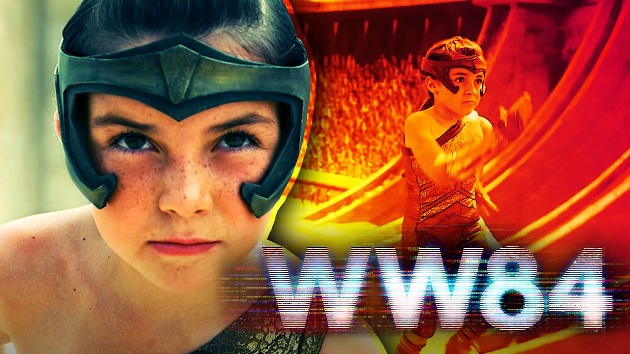 Lilly Aspell as Diana Prince, Wonder Woman 1984 logo