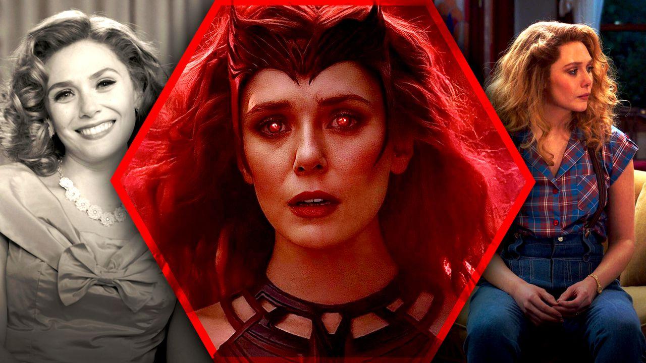 WandaVision Scarlet Witch Elizabeth Olsen Desktop Background