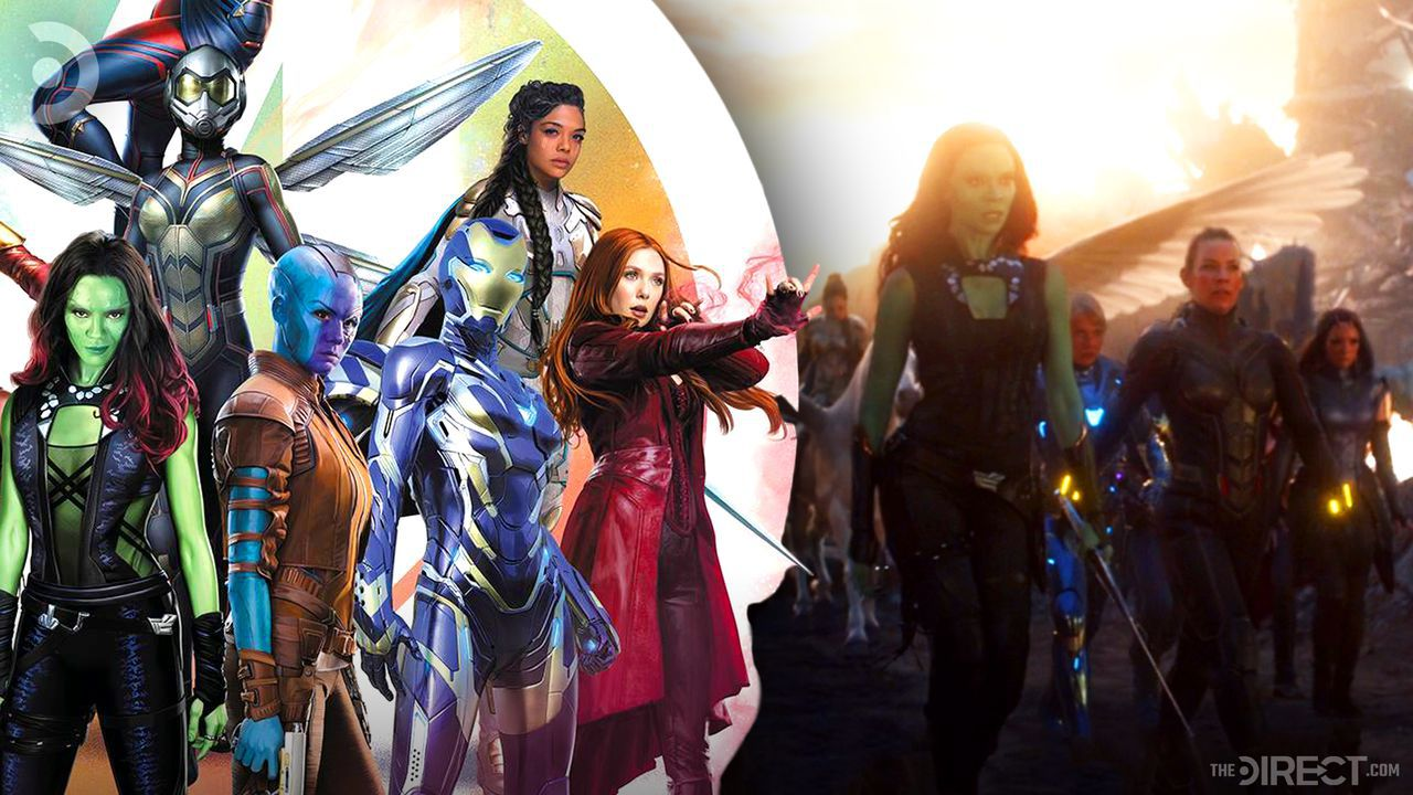 Marvel Heroes 2021 special edition calendar, A-Force team-up scene from Avengers: Endgame