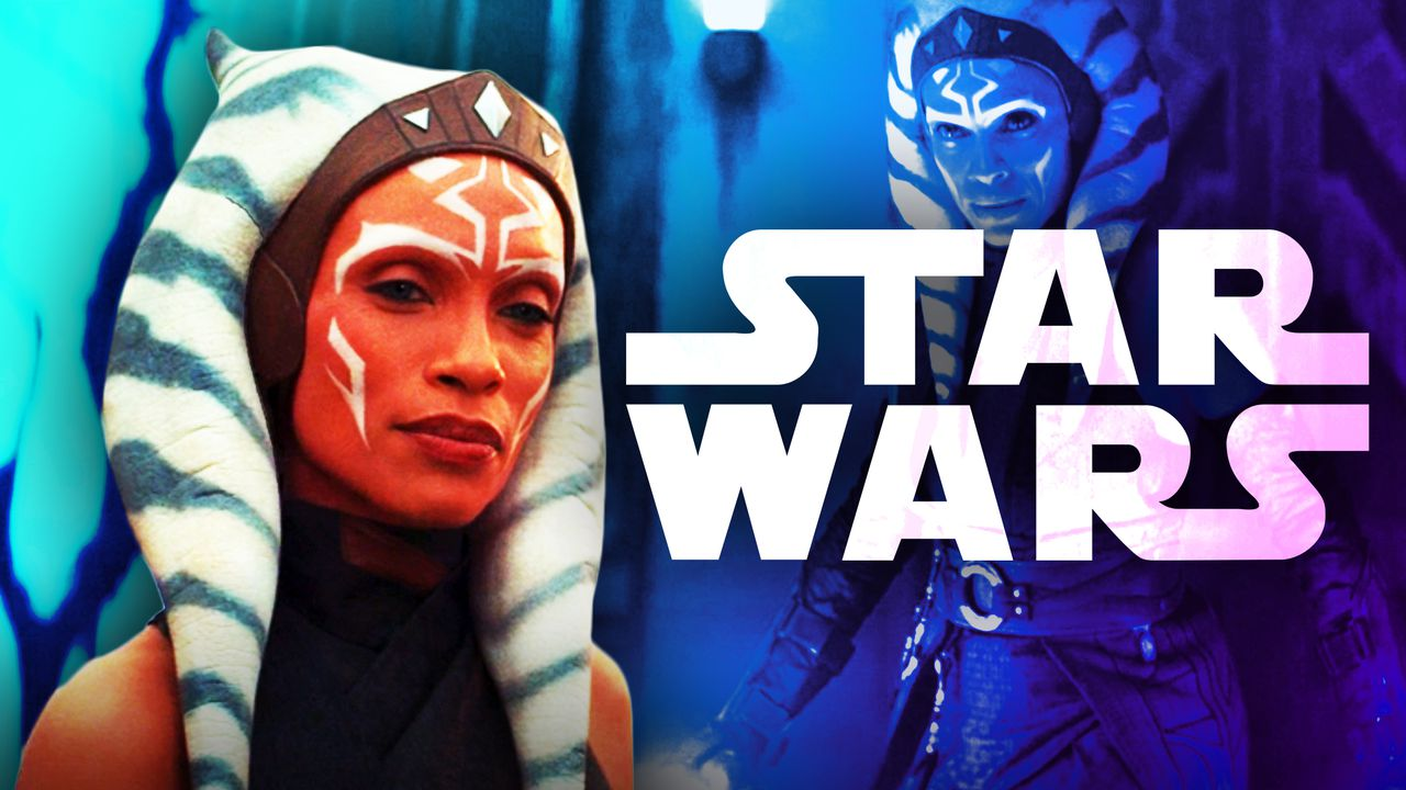 Rosario Dawson as Ahsoka Tano, Star Wars logo