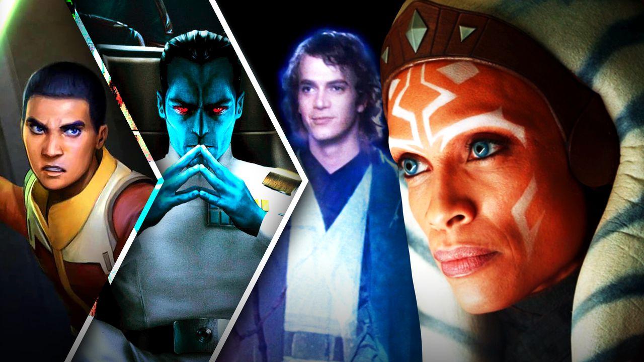 Ezra, Thrawn, Anakin, Ahsoka