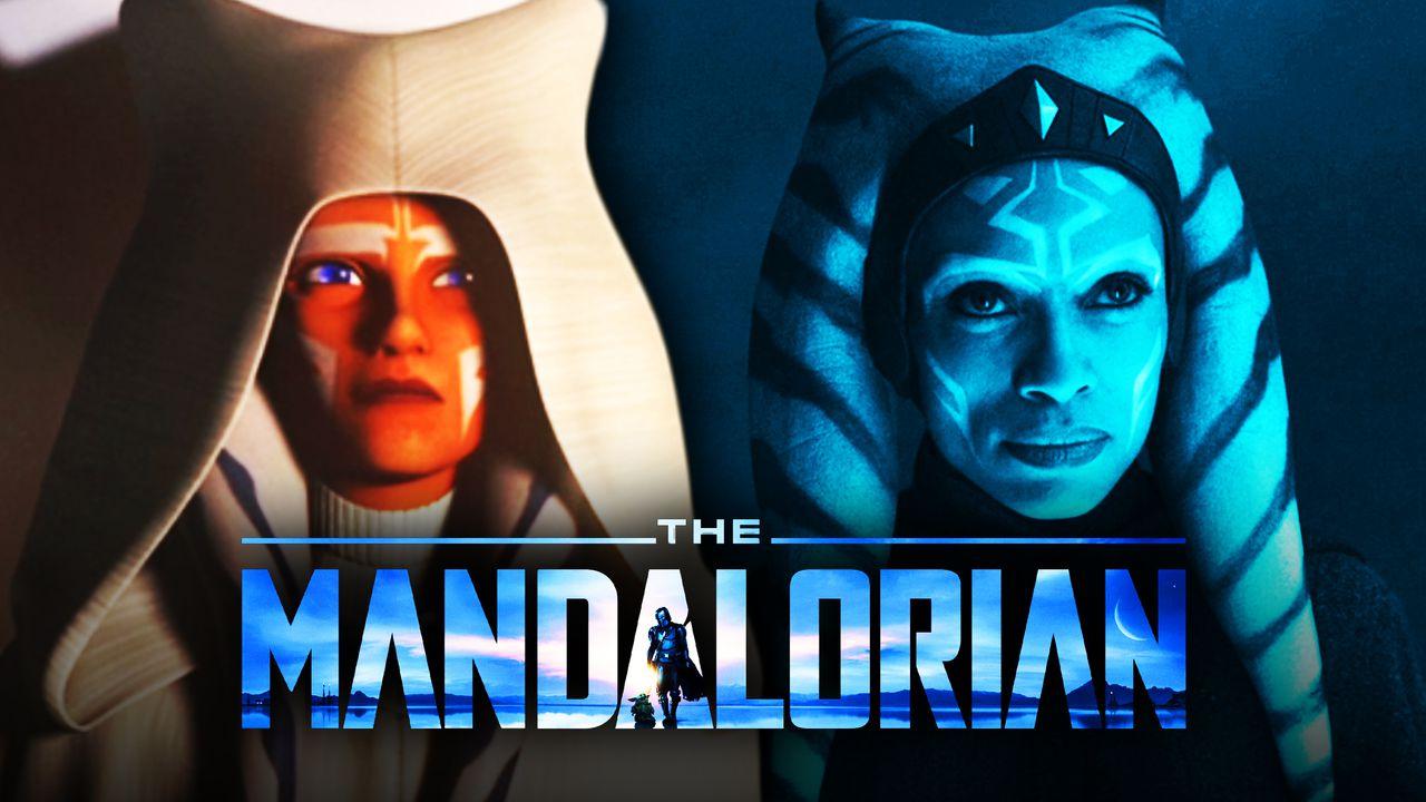 The Mandalorian logo, Ahsoka, Rosario Dawson as Ahsoka