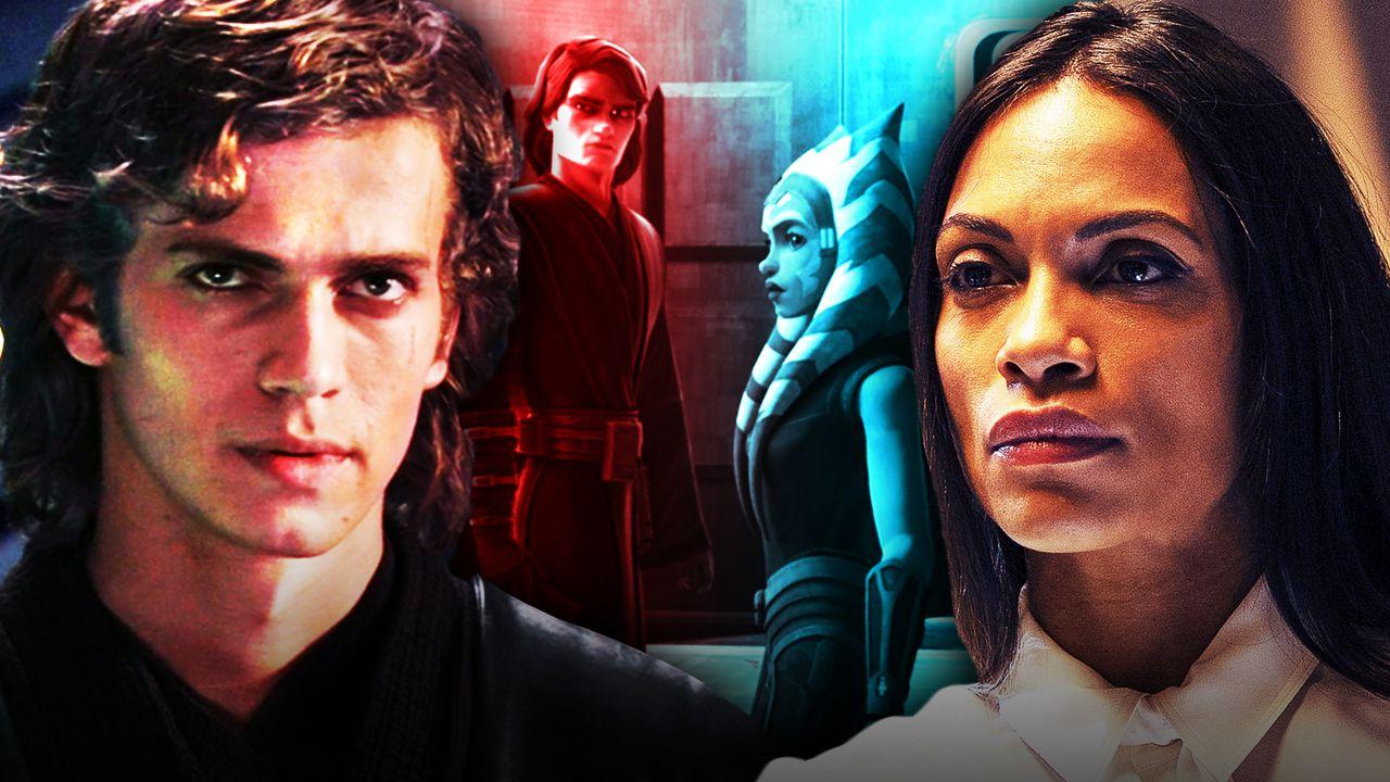 Anakin Skywalker, Anakin and Ahsoka in Star Wars: The Clone Wars, Rosario Dawson